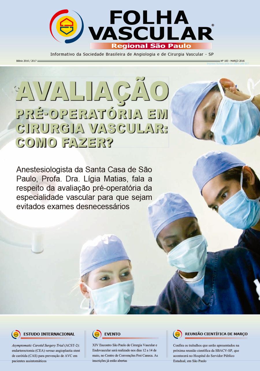 Folha Vascular Março/2016 - SBACV-SP