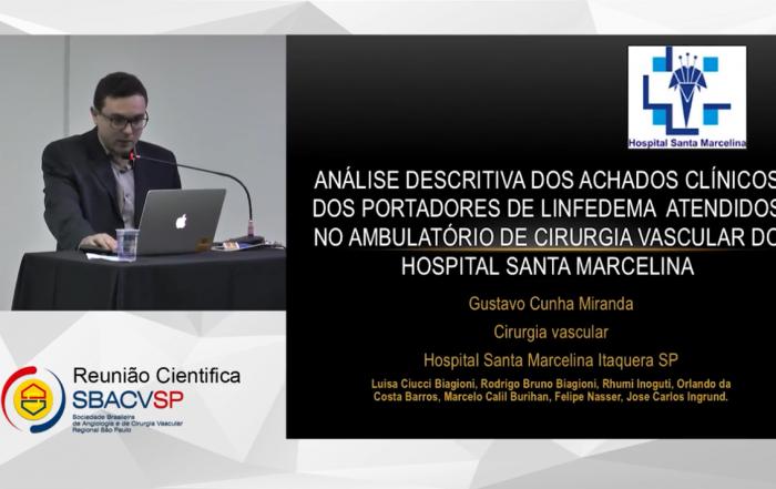ANÁLISE DESCRITIVA DOS ACHADOS CLÍNICOS DE PACIENTES PORTADORES DE LINFEDEMA ATENDIDOS NO AMBULATÓRIO DE CIRURGIA VASCULAR DO HOSPITAL SANTA MARCELINA SÃO PAULO