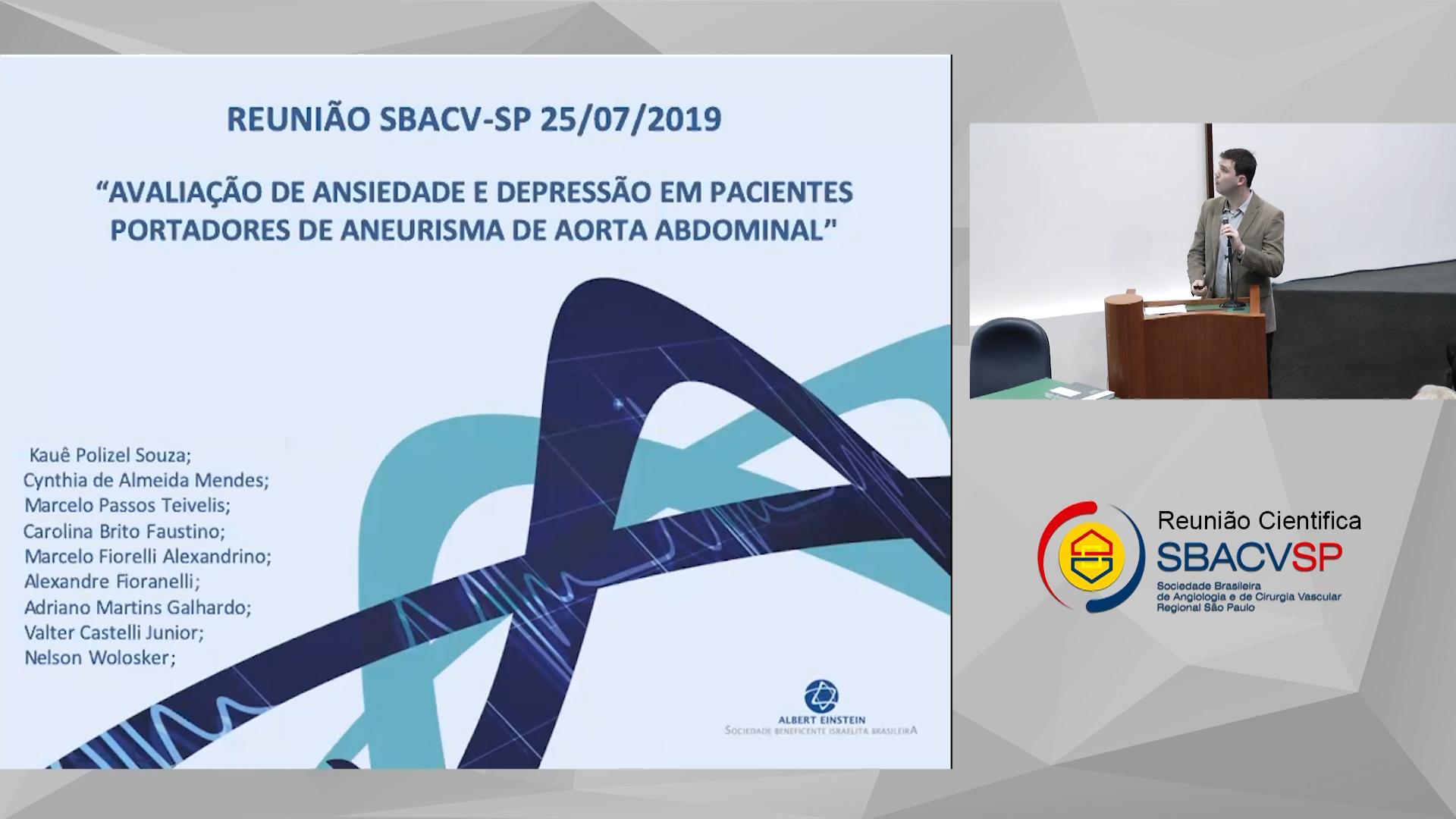 Avaliação de ansiedade e depressão em pacientes portadores de aneurisma de aorta abdominal